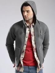 GAS Grey Melange Hooded Jacket