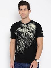 Numero Uno Black Batman Print T-shirt