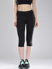 HRX by Hrithik Roshan Black Active Knee-Length Tights