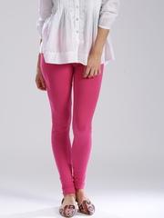 W Pink Churidar Leggings