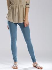 W Blue Churidar Leggings