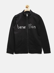 United Colors Of Benetton Girls Black Sweatshirt