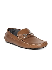 Steve Madden Men Tan Brown Leather Loafers