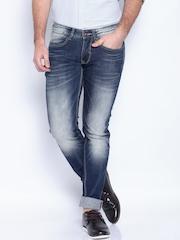 Pepe Jeans Blue Low-Rise Hatch Regular Fit Jeans