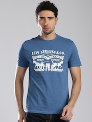 Levi's Blue Printed T-shirt