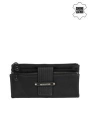 Fastrack Women Black Genuine Leather Wallet
