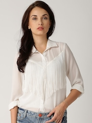 All About You from Deepika Padukone Off-White Fringed Top
