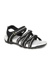 FILA Men Black & White Striped GABOR II Sports Sandals