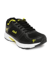 FILA Men Black Run Fast Plus 3 Running Shoes