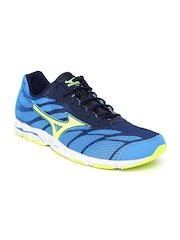 Mizuno Men Blue Wave Hitogami 3 Running Shoes