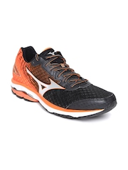 Mizuno Men Black Wave Rider 19 Running Shoes