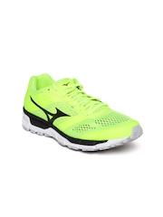 Mizuno Men Fluorescent Green Synchro MX Running Shoes