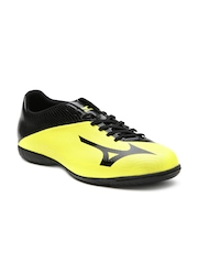 Mizuno Men Yellow Basara 103 IN Leather Football Shoes