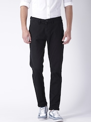 "Moda Rapido Black Slim Fit Trousers- Stretch fabric- Mobile (upto 6.2"") Phone Pocket"