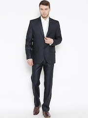 Success Grey Self-Striped Single-Breasted Slim Fit Partywear Suit