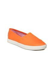 Steve Madden Women Neon Orange Loafers