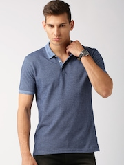 ETHER Blue Polo T-shirt
