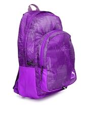 PUMA Unisex Purple Printed Backpack