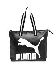 PUMA Black Printed Oversized Shoulder Bag