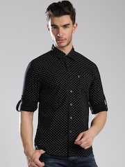 Levis Black Printed Slim Fit Casual Shirt