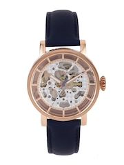 Fossil Men Silver-Toned Visible Mechanism Dial Watch ME3086I