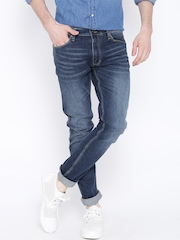 H.E. by MANGO Navy Washed Patrick Fit Jeans