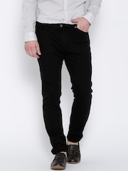 H.E. by Mango Black Jan Slim Fit Jeans
