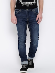 H.E. by Mango Blue Washed Jan Slim Jeans