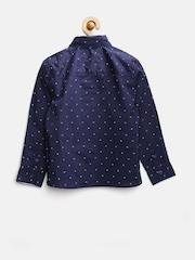 MANGO Kids Boys Navy Printed Shirt