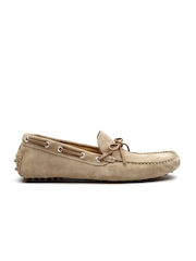 H.E. By Mango Men Brown Suede Boat Shoes
