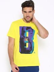 Adidas Yellow Printed T-shirt