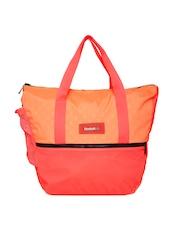 Reebok Women Neon Orange Studio Oversized Gym Bag
