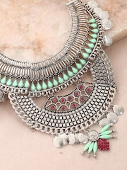 Anouk Silver-Toned Statement Necklace