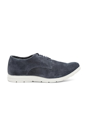 Carlton London Men Navy Suede Casual Shoes