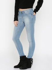 Moda Rapido Women Blue Skinny Fit Mid-Rise Clean Look Jeans
