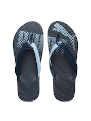 PUMA Men Blue Printed Flip-Flops