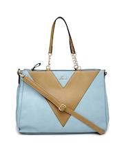 Lavie Blue & Brown Caffarel Large Handbag