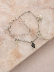 DressBerry Silver-Toned Anklet