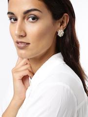 DressBerry Gold-Toned Stud Earrings