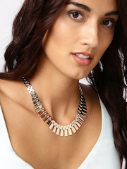 DressBerry Muted Gold-Toned Necklace