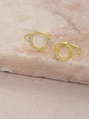 DressBerry Set of 2 Gold-Toned Rings