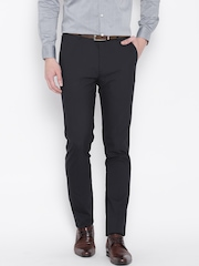 Arrow New York Navy Super Slim Fit Formal Trousers