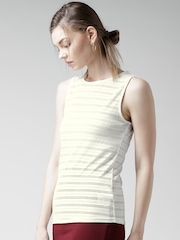 New Look Off-White Cut-Out Top