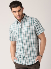 Jeep Multicoloured Checked Outdoor Shirt J5S
