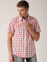 Jeep White & Red Checked Outdoor Shirt J5S