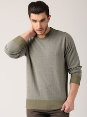 Jeep Olive Green Tricot Sweater J5S