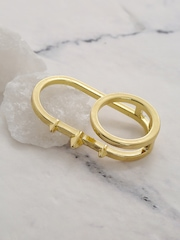 Mast & Harbour Gold-Toned Dual-Finger Ring