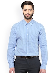 Turtle Blue Checked Formal Shirt