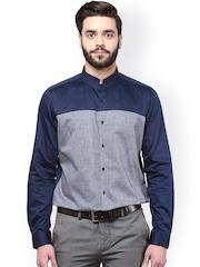 Turtle Navy & Grey Formal Shirt