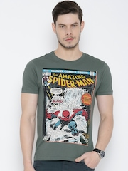 Flying Machine Grey Spiderman Print T-shirt